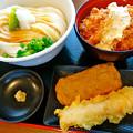 讃岐うどん 幅屋 udon habaya Hiroshima しょうゆうどん かしわ天丼 じゃこ天 上ちくわ天 tendon tempura tenpura 広島市南区皆実町6丁目