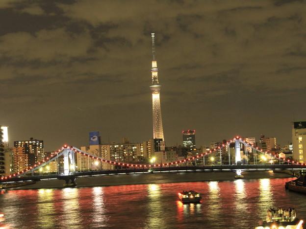 清洲橋と東京スカイツリー
