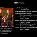 Photos: RLDS Firsts