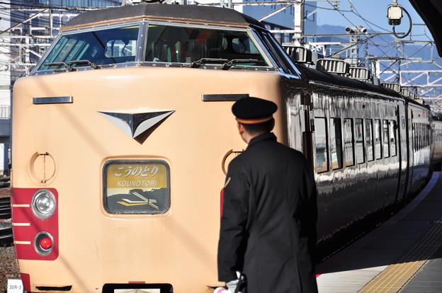 京都駅でこうのとり発車