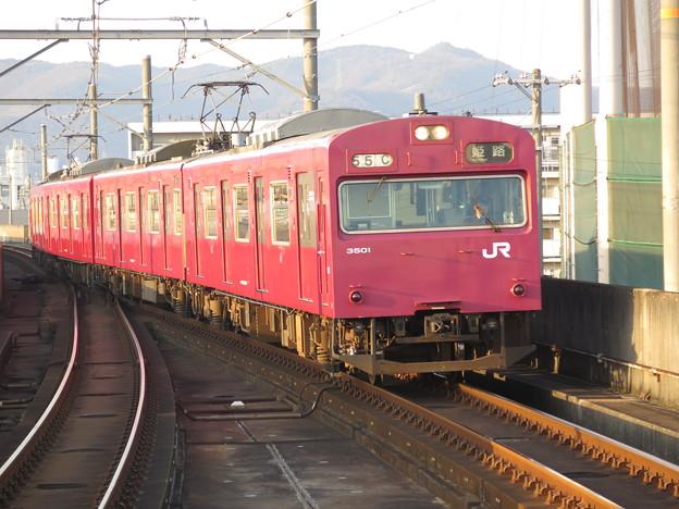 103系。まだまだ頑張る! @播但線京口駅