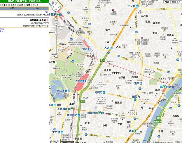 スカイツリーと上野公園を結ぶ