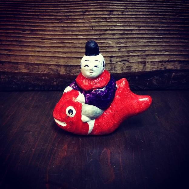 IMG_2120 土人形 鯛乗り