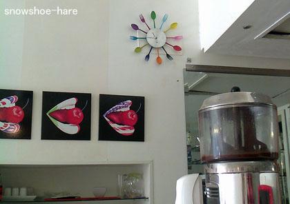 カフェの壁面