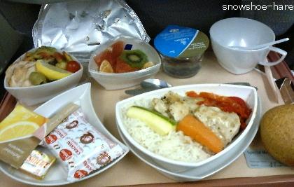 チュニス→ドバイ 特別食(bland meal)