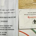 エチオピア航空とケニア航空のゴミ袋