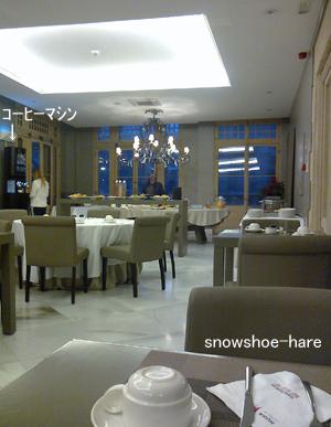 ホテルのレストラン内(朝食)