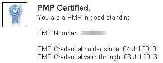 PMP Certification Status