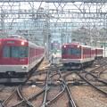 近鉄3200系同時入線西大寺