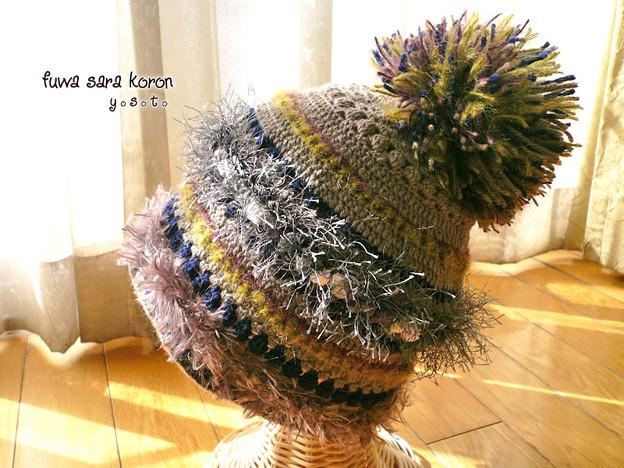 実りの秋のけいと帽 1