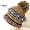 写真: 実りの秋のけいと帽 2