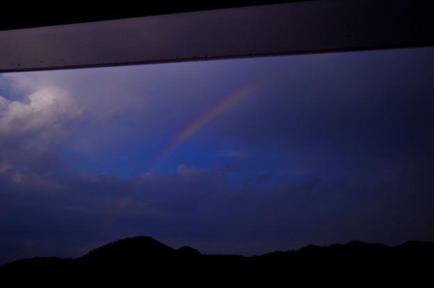 後山登山帰りの虹 ♪