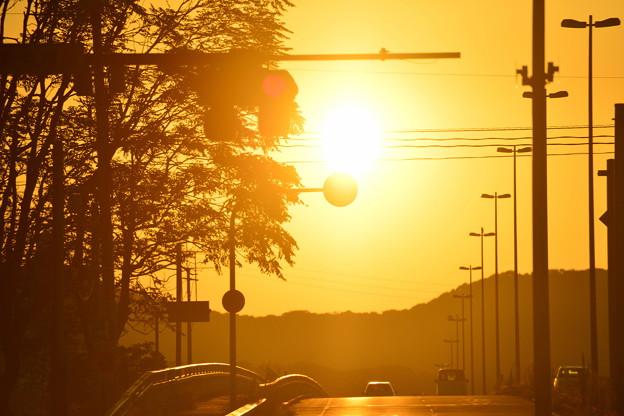 ☆ 岡山市の早朝、朝陽&朝焼け ☆