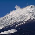 写真: 富士にかかる雲