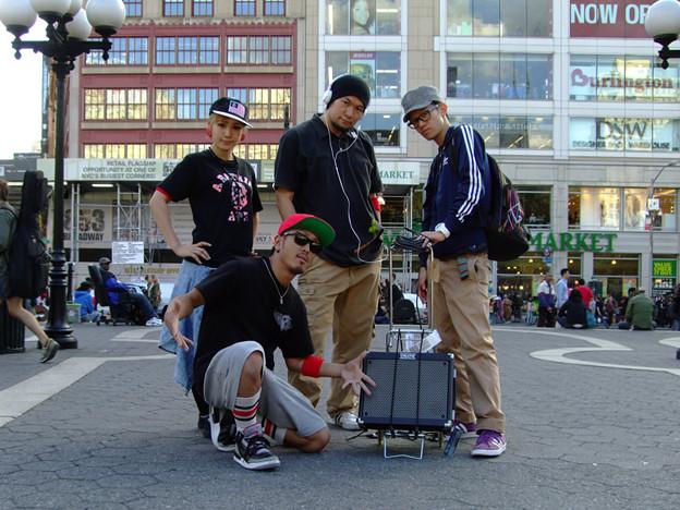 2012 NYで、念願のストリートパフォーマンス!♪