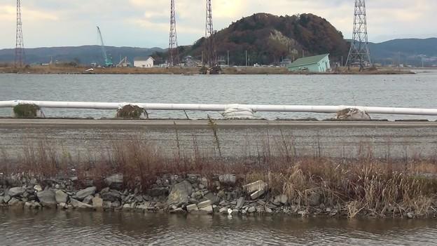 奥松島パークラインー3.水没した内陸に残された一本道