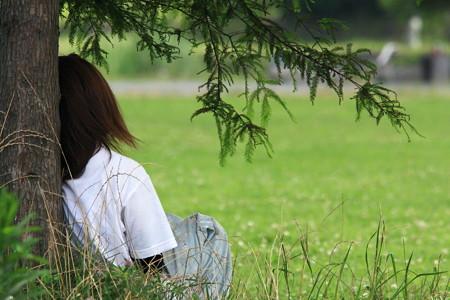 2012.07.23 和泉川 樹の下に涼風