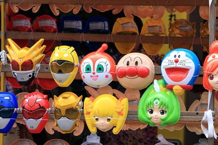 2012.08.05 富士 甲子祭 屋台のお面屋さん