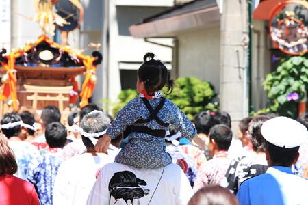 2012.08.05 富士 甲子祭 肩車