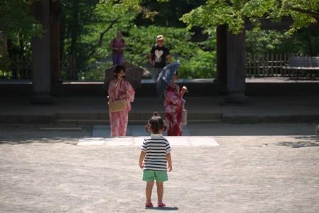 2012.08.09 円覚寺 三門に向かう姫