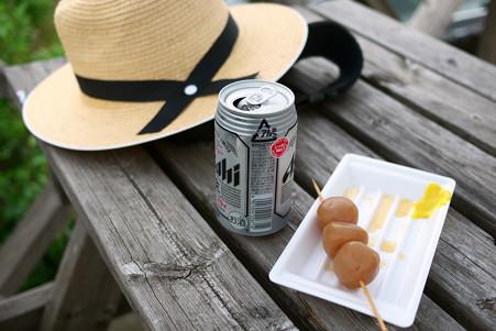 2012.08.12 蔵王 駒草平 昼食と麦藁帽子