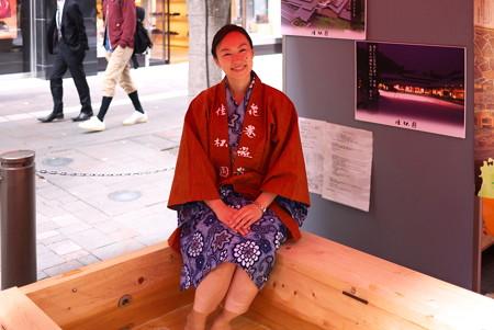 2012.11.03 丸の内仲通り JAPAN FOOD FESTA 2012 花巻温泉から足湯