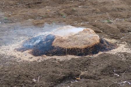 2013.02.22 追分市民の森 籾殻焼き