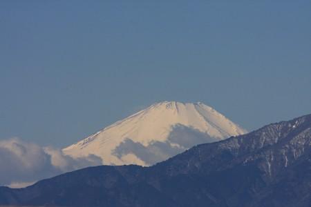 2013.02.25 駅前 富士山