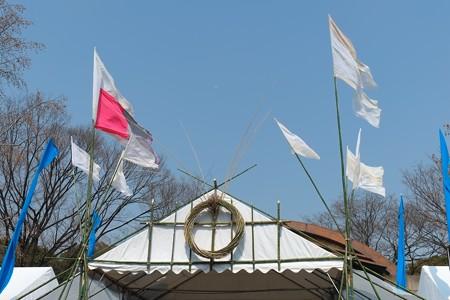 2013.03.10 日比谷公園 311 東日本大震災 市民のつどい 太陽光発電ステージ 戦闘旗