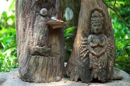 2013.08.09 円覚寺 黄梅院 木彫りの地蔵