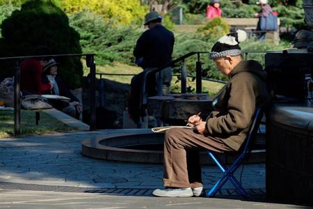 2013.11.21 港の見える丘公園 ローズガーデン 絵画・スケッチの旅