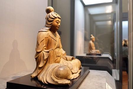 2014.01.08 東京国立博物館 八幡三神坐像 比売神坐像 鏡覚作作