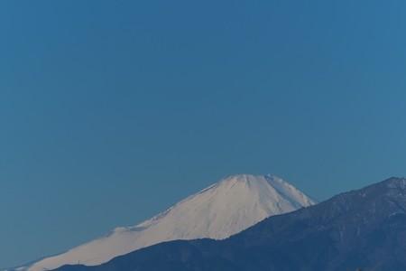 2014.01.19 駅前 富士山