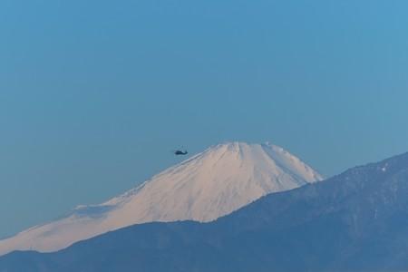 2014.01.23 駅前 富士山