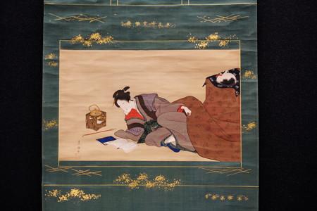 2014.02.07 東京国立博物館 炬燵美人図 歌川豊国筆 江戸時代 A-11556