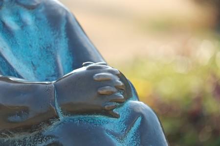 2014.02.21 みなとみらい 山下公園 赤いくつをはいた女の子の像