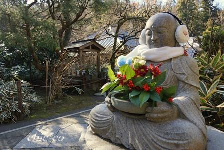 新春の花想い地蔵さま・・