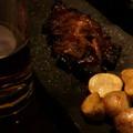 写真: 新年会!肉肉!ビール!!!