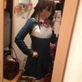 写真: 恋チョコ制服届いたよーっ!ってことで、アニメである意味初出な大沢ゆいな。
