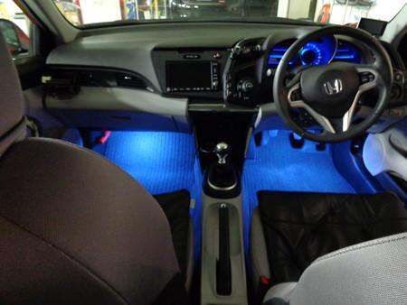 CR-Z 愛知県 フットランプ 青LED スモール連動