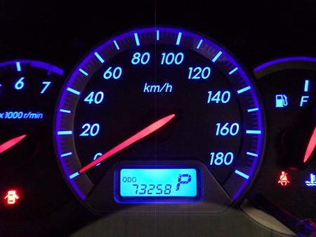 ウィッシュ イカリング取付・LED打ち替え メーター スピード