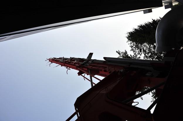 写真: ラムダロケットのランチャ(ちょっとかっこいい)