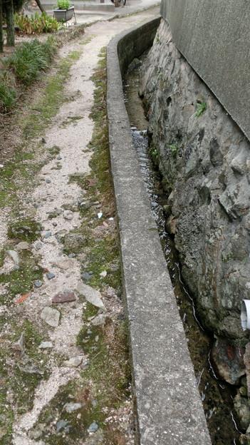 細道と小さな水路