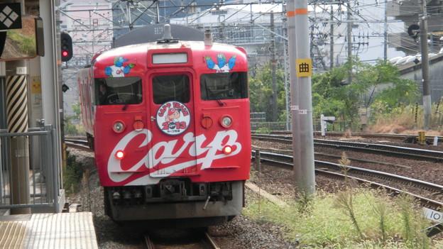 この子もそろそろ見納め… 広ヒロ L-13 2013カープ列車