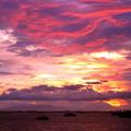 マニラ湾夕焼け雲