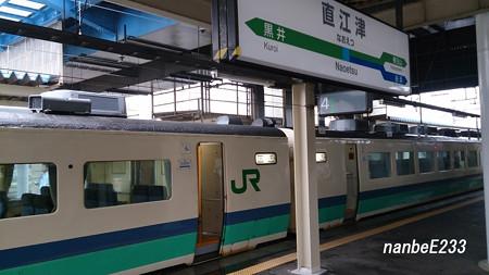 直江津駅で運転打ち切り・・・・・。・゚・(ノД`)・゚・。