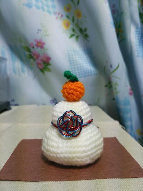 編みぐるみ 鏡餅