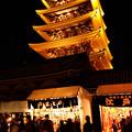 Photos: 羽子板市と五重の塔!2012