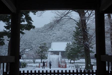 仁王門からの雪景色!2013