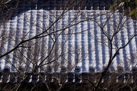 残雪の屋根風景!201301